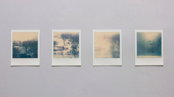 The vanishing spot, 4 polaroids, 2014