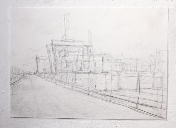 Grey harbour_detail (drawing), 24x29cm, pencil on paper, 2013