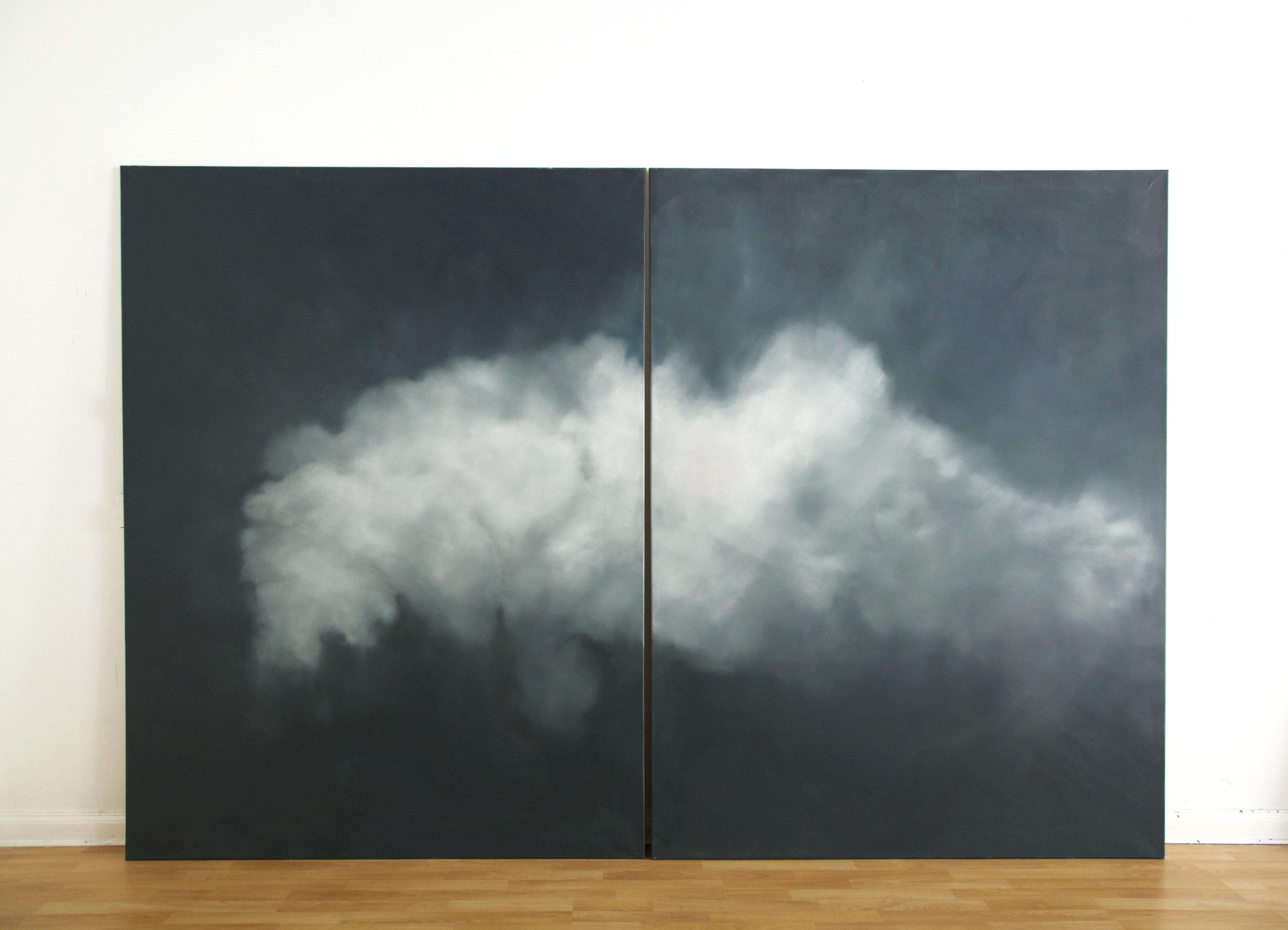 Cloud Project (Klingenberg), oil on canvas, 200x 300 cm, 2017